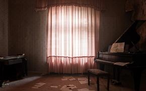 Картинка комната, фон, пианино