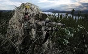 Обои оружие, Sniper, солдат