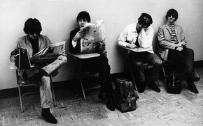 Обои черно-белая, Rock, The Beatles
