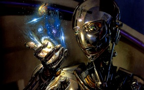 Обои миры, андроид, галактика