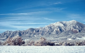 Картинка снег, деревья, горы, Колорадо