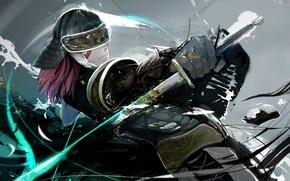 Картинка рендеринг, меч, доспехи, арт, самурай, мужчина, nezag