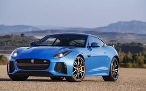 Картинка Jaguar, Blue, Coupe, F-Type, SVR
