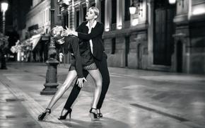 Обои девушки, улица, танец, Tango mi amor