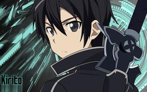 Обои wallpaper, japanese, by suzysenpai, boy, 4k, blade, SAO, manga, Sword Art Online, Kirigaya Kazuto, asian, ...