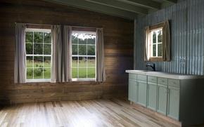 Картинка дизайн, стиль, комната, интерьер, кухня, загородный дом