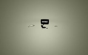 Обои минимализм, minimalism, слово, worms, 2560x1600, word, червячки
