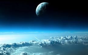 Картинка тучи, планета, Небо