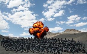 Картинка взрыв, military, мужчины, army, афганистан, marines, afghanistan