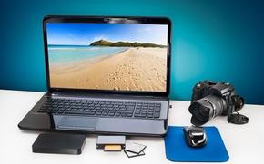 Картинка памяти, картридер, фотоаппарат, лэптоп, компьютерная, hi-tech, цифровой, морской, фотик, тачпад, жесткий, technology, mouse, ноутбук, диск, ...