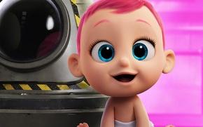 Картинка kawaii, cinema, wallpaper, girl, pink hair, design, blue eyes, beautiful, pretty, cartoon, movie, face, baby, …