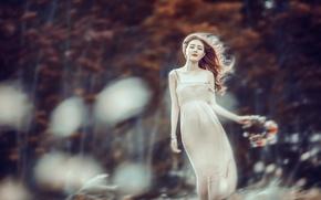 Картинка ветер, настроение, девушка, природа