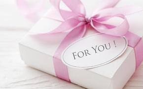 Картинка любовь, подарок, love, heart, pink, romantic, Valentine's Day, delicate, ribbon