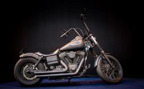Обои Harley Davidson, motor bike, Mean machine