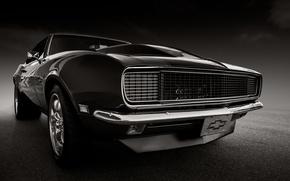 Обои chevrolet, camaro, 1968, классика, ретро, передок