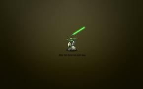 Обои минимализм, 1920x1200, фраза, Yoda, Звёздные войны, джедай, minimal WallS, may the force be with you