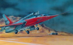 Картинка North American F-107, рисунок, United States Air Force, tactical fighter-bomber