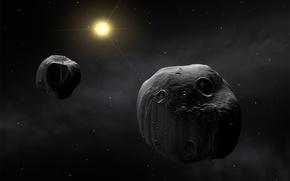 Обои тела, пространство, метеорит, космос