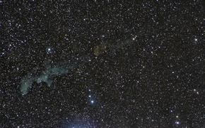 Картинка туманность, Голова Ведьмы, в созвездии, отражательная, Эридана, IC 2118