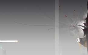 Обои минимализм, градиент, линии
