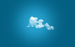 Обои минимализм, простой фон, облака
