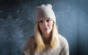 Картинка girl, hat, smile, Brooklyn Decker, model, look, blonde
