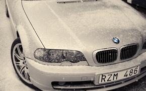 Обои white, Bmw, winter
