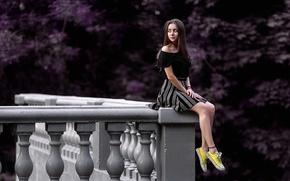 Картинка девушка, кеды, юбка, ножки, Даша