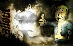 Картинка игра, Fallout 3, vault-boy, компьютерная