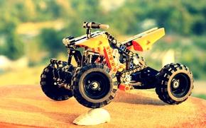 Картинка оранжевый, квадроцикл, Lego