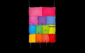 Обои лоскут, цвет, ткань, бумага