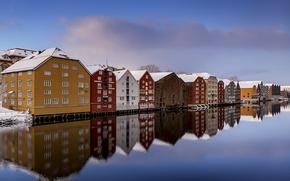 Обои Trondheim, Norway, Clear Winter