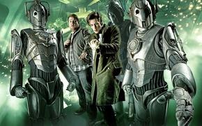 Обои киборги, Doctor Who, сериалы, Доктор Кто, Мэтт Смит, Matt Smith, Одиннадцатый Доктор, Киберлюди, Cyberman