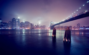 Картинка река, праздник, ночной город