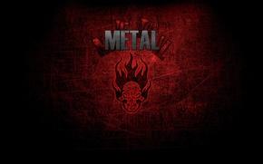 Обои Метал, Музыка, Стиль, Metal, Череп