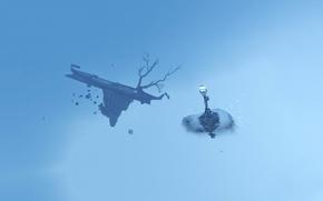 Картинка абстракция, дерево, фонарь, невесомость, Dishonored