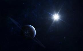 Обои estrella, ciencia ficción, planeta, cosmos