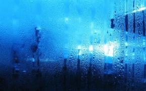 Обои стекло, вода, капли, влага, пар, потеки