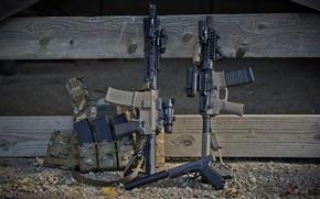 Картинка пистолет, оружие, фон, глушитель, винтовки, штурмовые