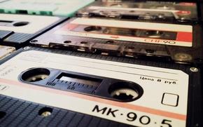 Картинка макро, стиль, музыка, кассета