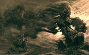 Обои Идолы, Дым, Песок