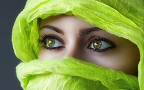 Картинка глаза, взгляд, лицо, восток, платок