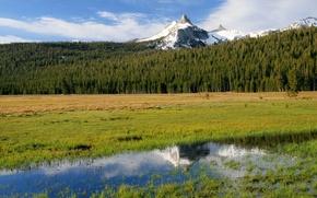 Картинка природа, Калифорния, США, Йосемити, Cathedral Peak