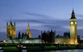 Картинка мост, англия, лондон, парламент, биг бен