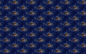 Картинка Санта Клаус, олени, Новый год, текстура, домик, новогодняя ночь, деревня, сугроб, зима, арт, фон, снег, ...