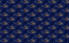 Картинка зима, снег, фон, праздник, текстура, деревня, арт, подарки, Новый год, домик, Санта Клаус, олени, сугроб, ...