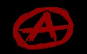 Картинка символ, анархия, anarchy, а в кружке.