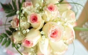 Картинка цветы, праздник, розы, свадьба