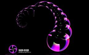 Обои минимализм, узор, пузыри