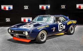 Обои 1967, chevrolet, camaro, z28, penske, sunoco, race car